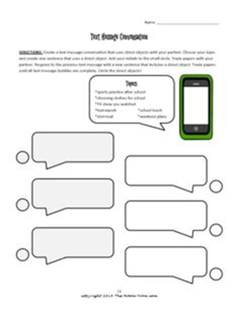 Blank Iphone Text Message Bubble Template French Teaching Ideas Pinterest Iphone Texts Text Message Template For Students