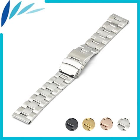 Fossil 18 Mm stainless steel band 18mm 20mm 22mm 24mm for fossil safety clasp loop belt bracelet