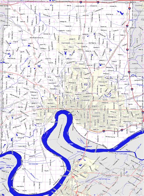 map of evansville indiana landmarkhunter vanderburgh county indiana