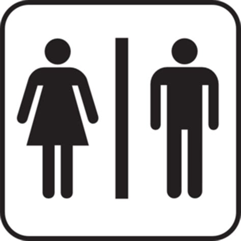 Large Bathroom Signs Large Bathroom Sign Clip At Clker