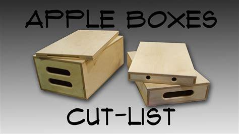 Box Apple 187 apple boxes cut list