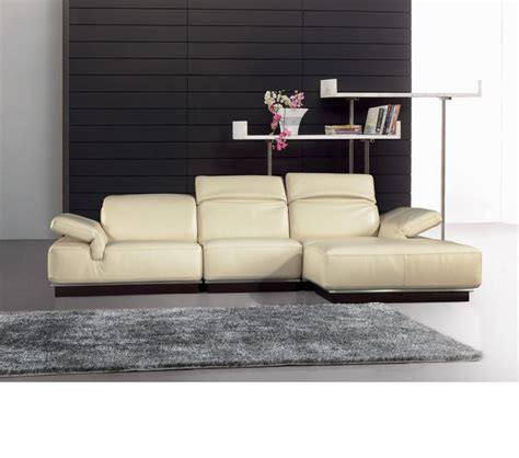 Top Grain Leather Sectional Sofas by Dreamfurniture 912 White Top Grain Italian Leather