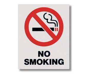 bar equipment no smoking signs adhesive no smoking quot no smoking quot self adhesive vinyl sign 8 quot l x 10 quot h