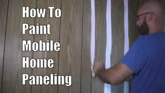 How To Paint Wood Panel how to paint mobile home paneling youtube