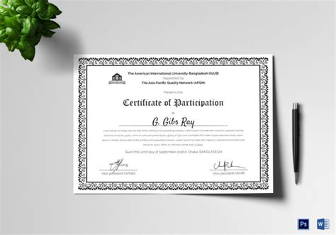 conference certificate of participation template 31 participation certificate templates pdf word psd