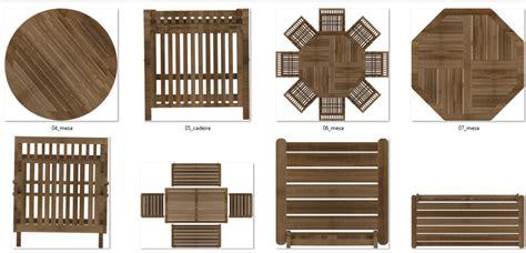 Muebles en planta a color para ambiental Arquitectónicas