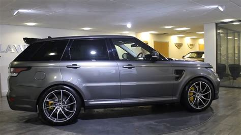 range rover svr black range rover sport svr overfinch grey with black leather