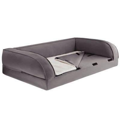 divano letto ortopedico divano ortopedico per cani grigio zooplus