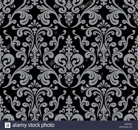 grey damask pattern vector seamless elegant damask pattern grey and black