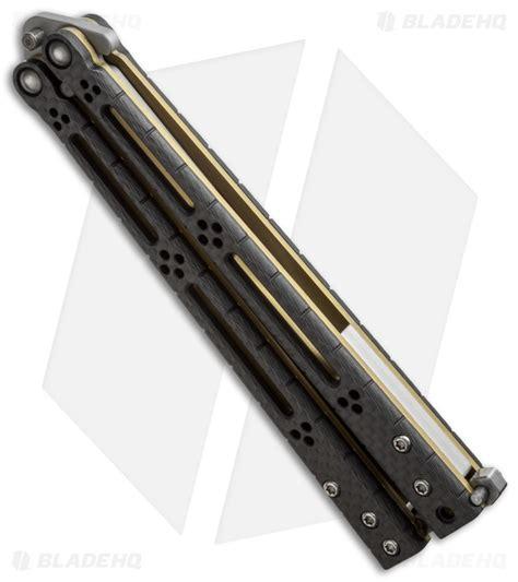 hom design hom design basilisk r balisong butterfly knife carbon