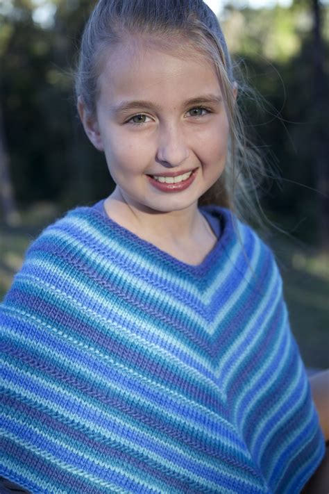 knitted kids poncho