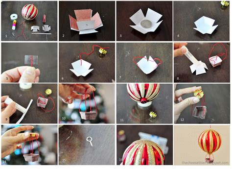 How To Make An Air Balloon Out Of Paper - the cheese thief how to make air balloon ornament