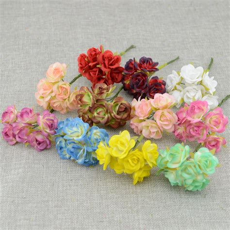 aliexpress buy 6pcs silk artificial flower iris aliexpress buy 6pcs mini silk artificial flowers bouquet wedding decoration