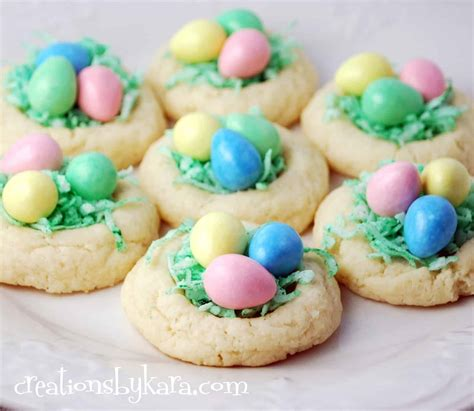 Easter Recipes | easter recipe nest cookies