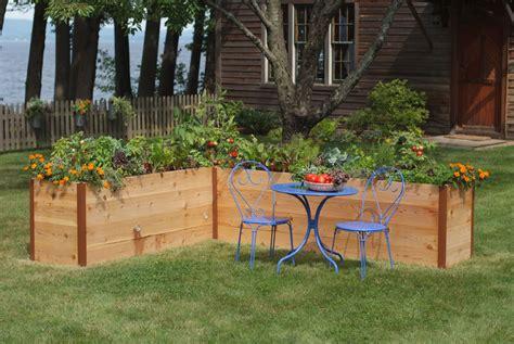 raised beds  easy  maintenance backyard gardens