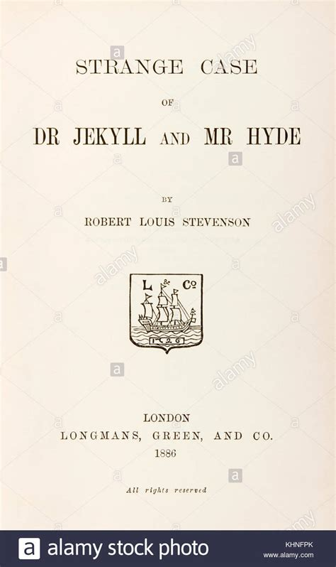 the strange of dr jekyll and mr hyde books the strange dr jekyll mr hyde stock photos the