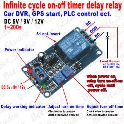 dc5v 9v 12v infinite cycle delay timer time turn on off