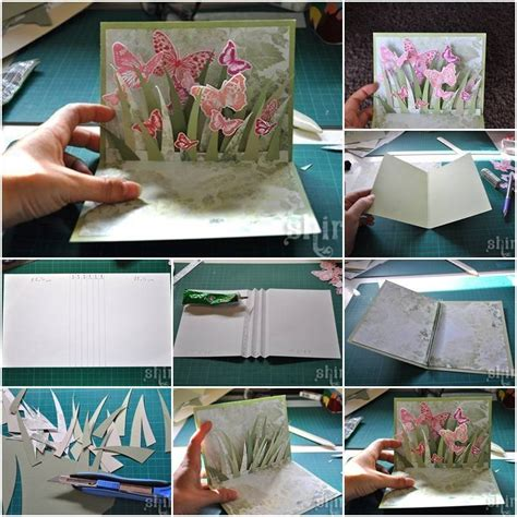 how to make a 3d greeting card diy 3d butterfly greeting card