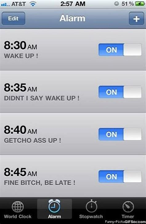 Iphone Alarm Meme - alarm clocks quotes like success