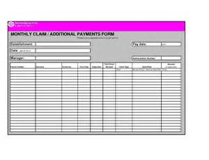 bill payment record template best photos of bill payment record form template free