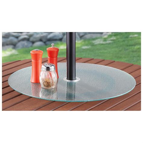 Lazy Susan For Patio Table With Umbrella Hole Icamblog Patio Table With Lazy Susan