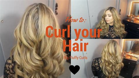 hairstyles that dont need a hot iron easy big fluffy curls with 1 inch hot tools curling iron