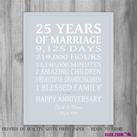 25th Wedding Anniversary Reception Ideas by 1000 Ideas About 25th Anniversary Gifts On