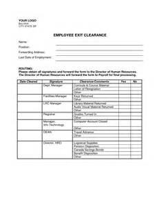 Exit Forms Templates by Best Photos Of Employment Exit Forms Employee Exit