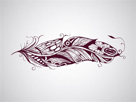 feather tattoo vector 13 indian feather graphics images native american indian