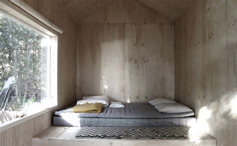 Sauna In Bedroom by Compact Plywood And Pine Cabin With Attached Sauna