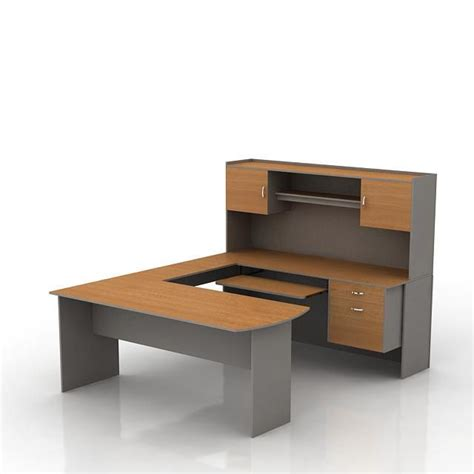 modular office desk 3d model cgtrader