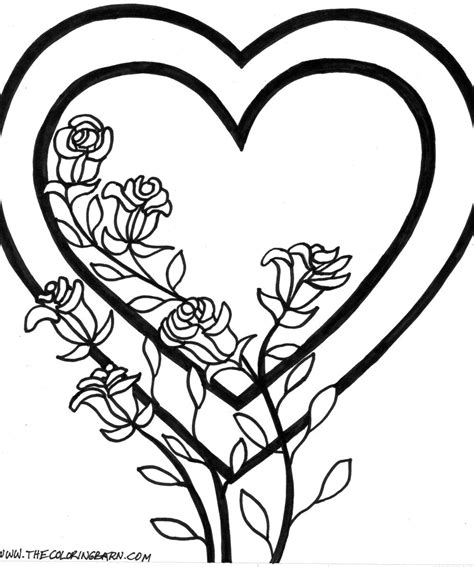 smiling heart coloring page valentine smiling heart free colouring pages