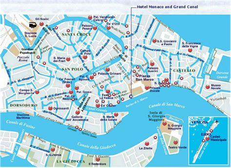 venice map venice landmarks map images