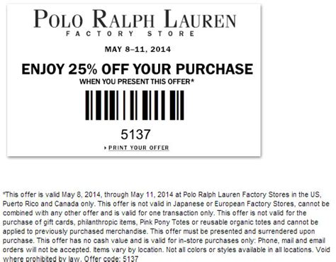 printable polo outlet coupons ralph lauren discount code