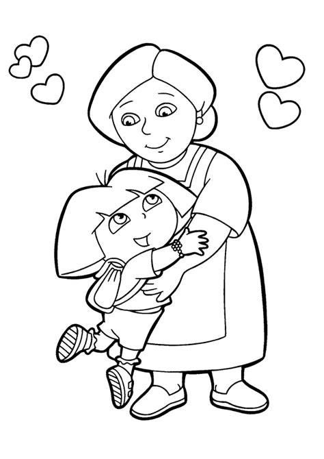 dora the explorer coloring pages nick jr dora coloring pages cutecoloring com