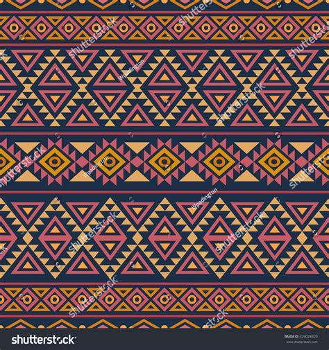 abstract aztec pattern abstract seamless pattern ethnic aztec motives stock