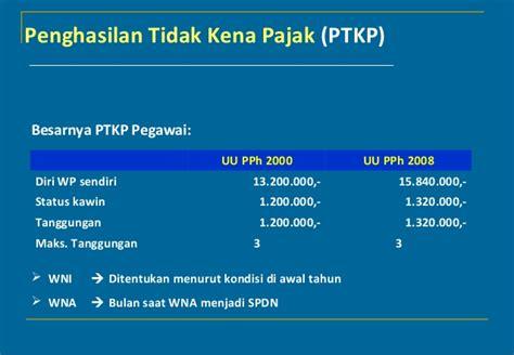 penghasilan tidak kena pajak ptkp nasikhudinismecom pph 21 pegawai tetap pasangan