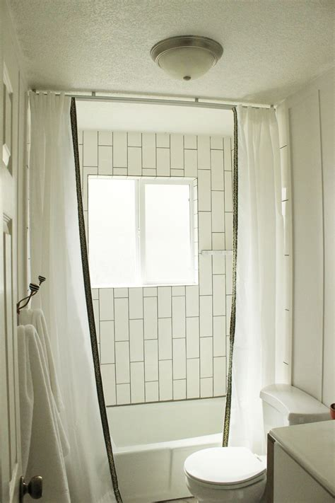 Ceiling To Floor Curtains how to install a ceiling mounted shower curtain