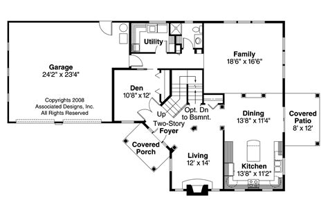 craftsman home floor plans craftsman house plans bowman 30 315 associated designs