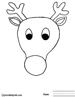 printable reindeer face templates free printable preschool lesson plans template colorings net