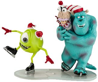 monsters inc ornaments mike sully and boo it s