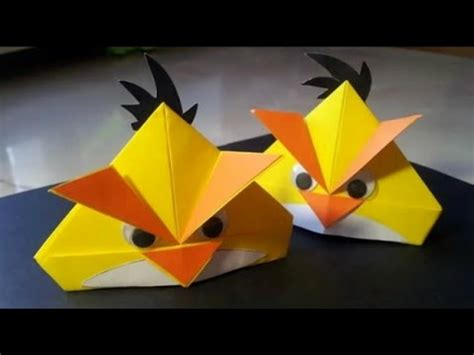 Origami Angry Birds - angry birds paper folding origami