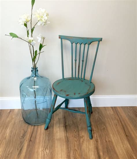 Wooden Accent Chairs by Teal Chair Primitive Furniture Small Accent Chair