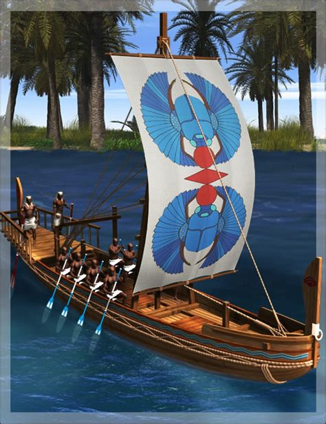 ancient egypt boats and transportation ancient egyptian canal boat 3d models and 3d software by