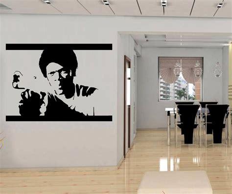 silhouette home decor pulp fiction decal wall sticker art home decor silhouette jules vincent sst019 ebay