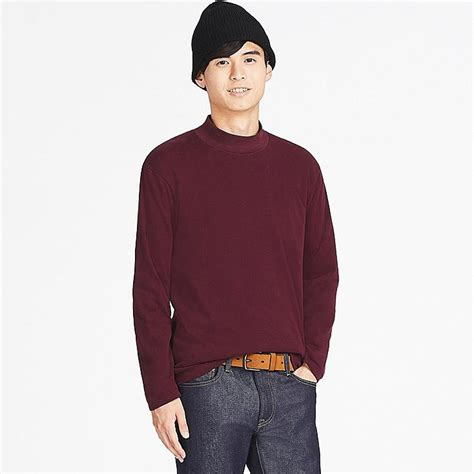 Mock Neck Sleeve T Shirt soft touch mock neck sleeve t shirt