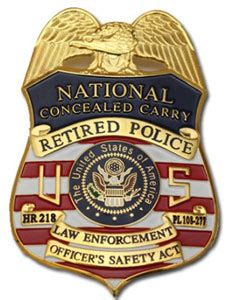 Retired Law Enforcement Officers Concealed Carry Course ... Leosa Police
