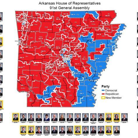 us representatives arkansas map house of representatives district map 91st general