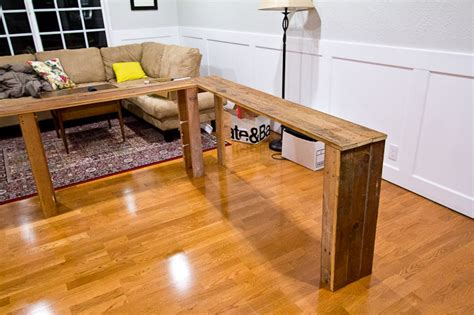 behind the couch tables diy console table