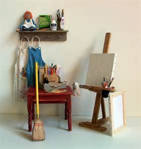doll house studio miniature artist easel 1 inch dollhouse scale
